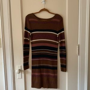 American Eagle Striped Sweater Dress